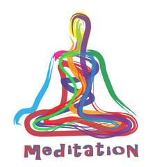 silhouette astratta di persona che medita