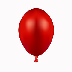 Vector modern red balloon on white