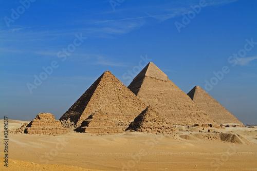 Staande foto Egypte Die Pyramiden von Gizeh in Ägypten