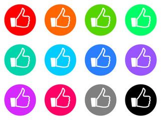 thumb up vector web icon