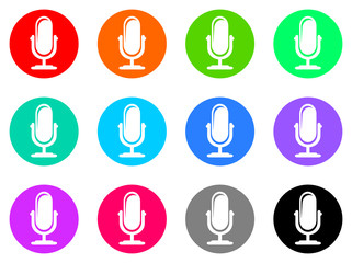 microphone vector web icon
