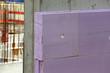 Leinwanddruck Bild - XPS-Perimeterdämmung auf Beton