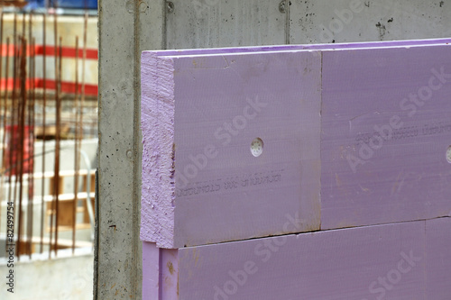 Leinwanddruck Bild XPS-Perimeterdämmung auf Beton