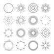 Set of linear badges. - 82500793
