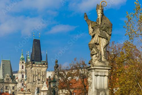 Papiers peints Prague Statue of St. Augustine, Prague, Czech Republic