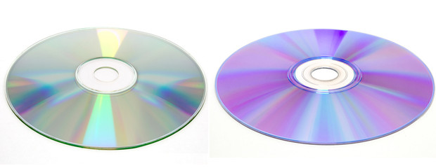 cd and dvd disc, isolated