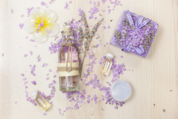 Beauty products with Lavender