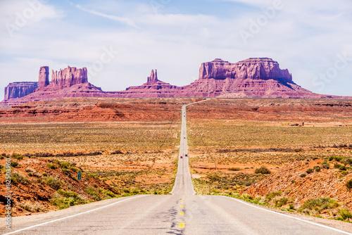Poster descending into Monument Valley at Utah  Arizona border