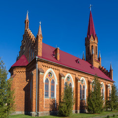 Catholic Church in Stolovichi (Stolowiczy), Belarus.