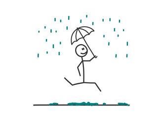 sm springen mit regenschirm im regen I