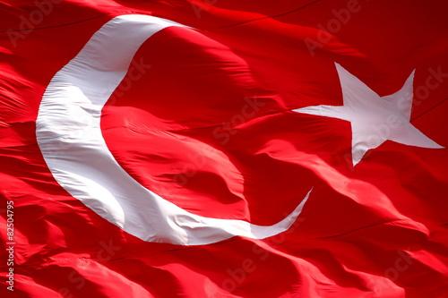 Waving Turkish flag Poster