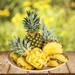 Pineapple. Prepared Pineapple Hz