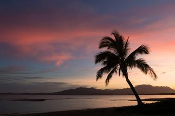 Sunrise at a beach, Fiji