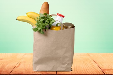 Groceries. Shopping bag
