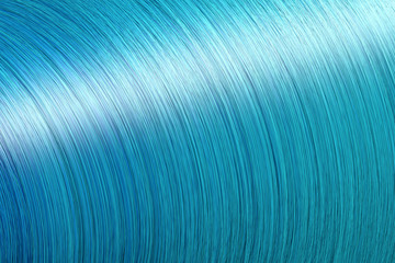 3D Wave of streak hair fibres render