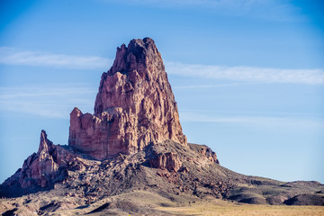 El Capitan Peak just north of Kayenta Arizona in Monument Valley