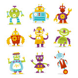 Happy Retro Robots Collection