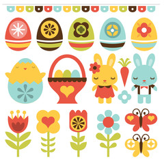 Retro Folk Art Easter