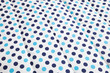 light blue and dark blue polka dotted quilt - 82515386