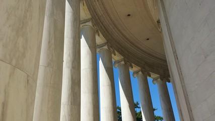 Ionic Columns of Jefferson Memorial in Washington, D.C.