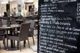 Fototapety Paris restaurant with menu