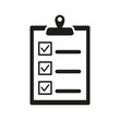 The checklist icon. Clipboard symbol. Flat - 82520155