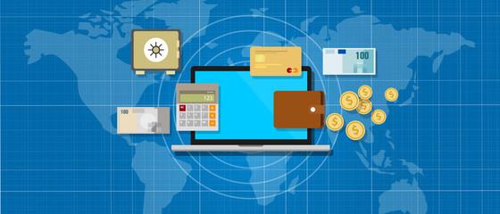 internet banking application money