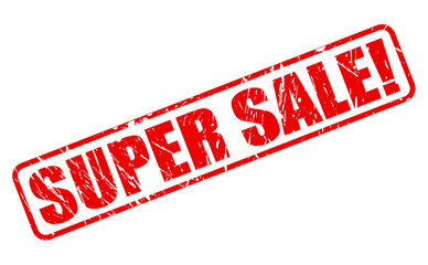 Super sale red stamp text