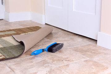 Image with a broom and rug