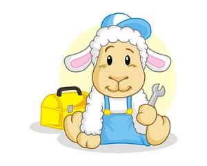 sheep livestock character image vector