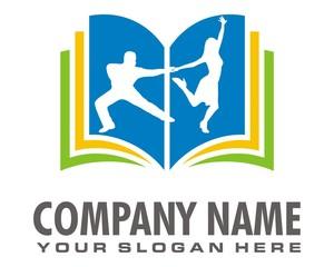 dancing mate silhouette logo image vector