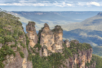 Three Sisters view from Blue Mountain Australia