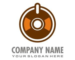 disc music logo image vector