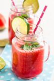 Fototapeta Watermelon and lime drink