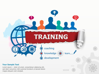 Training concept and group of people.
