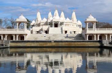 Mandir Hindu Shrine with reflection