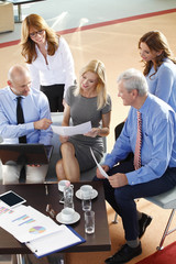 High angle view of business person