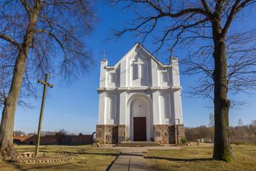 Catholic Church in Kroshyn (Kroszyn), Belarus.