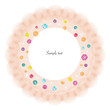 Lace circle frame colorful diamonds greeting card