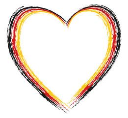 Herz gepinselt deutsch