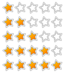 Five stars ratings web button