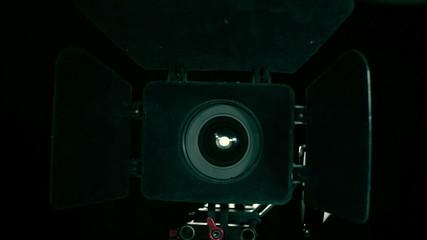 DSLR  camera rotation. Professional equipment.