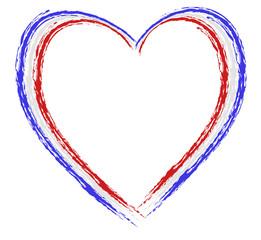 Herz gepinselt französich