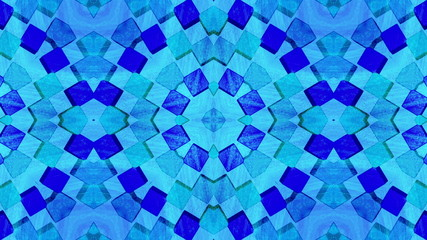 Blue Mosaic cubes background, loop.