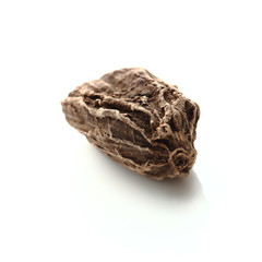 Seed of black cardamom isolated on white background