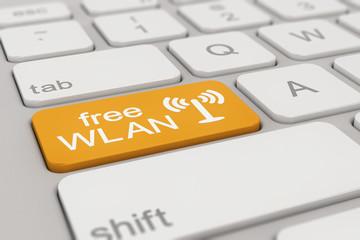 keyboard - free WLAN - orange