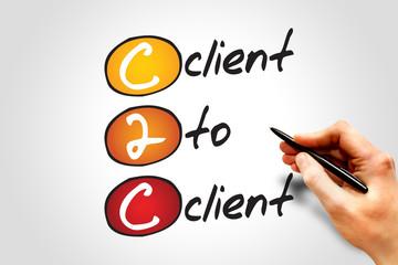 Client To Client (c2c), business concept acronym
