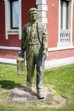 statue of Migrant in Cangas de Onis, Asturias poster