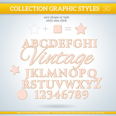 Vintage Graphic Styles for Design. use for decor, text, title
