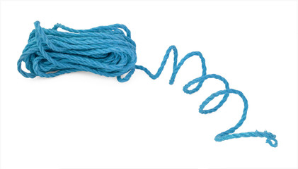 The blue rope in the coil